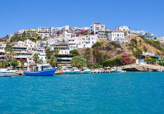Tuinposter Agia Galini Kreta Griekenland
